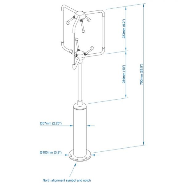 WindMaster-3-axis-ultrasonic-anemometer-dimensions